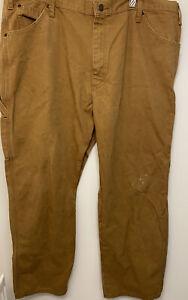 Vintage Dickies Mens Distressed Brown Carpenter Work Trousers W40 Inch /L30 Inch