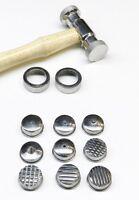 Texturing Hammer with 9 Interchangeable Heads Design Texture Metal Work Tool Set