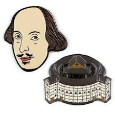 More details for 🇬🇧 william shakespeare & the globe pins by the unemployed philosophers guild