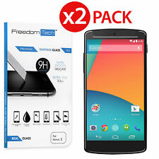 2 Pack 9H+ Premium Tempered Glass Screen Film Protector For LG Google Nexus 5