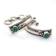 Bracelet Band Ends Findings Sterling Silver Green Turquoise Watch