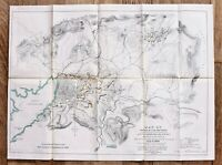 1898 Santiago Cuba Map Spanish American War US ARMY ORIGINAL RARE