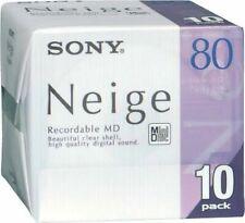 Sony MD80 Minidisc Neige 80 Minute Pack 10