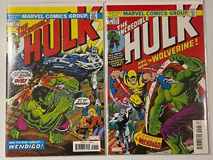 Incredible Hulk Set 180 181 First 1st appearance Wolverine Marvel Unread Lot htf