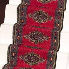 Stair Carpet 2, Doll House Miniatures Staircase Carpet Red 1.12th Scale