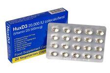 Hux D3 20,000IU X30 Vitamin,Food Suplement,Suitable For Vegetarians,Halal&Kosher