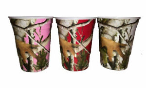 Havercamp Next Camo Red Pink & White Reusable Durable Melamine Party Cups 16 oz