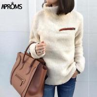 Women's Turtleneck Sweater Coat Jacket Pullover Outwear Jumper Long Sleeve NEW