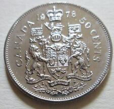 1978 Canada ROUND JEWEL (RJ) Half Dollar Coin. RARE UNC 50 Cents (H510)