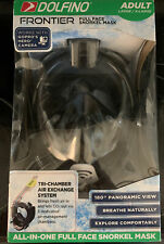 Dolfino Frontier All-in-one Full Face Snorkel Mask Adult Large/X-Large NEW