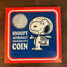 Vintage 1969 Snoopy Peanuts Astronaut Medal Coin NASA Space Determined Products