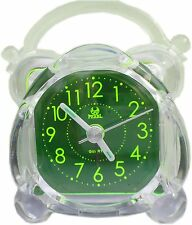 Noctilucent travelling electrical alarm clock green cute version night light