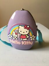 Hello Kitty Tin Tote Strap Lunch Box Cosplay Purse Toy Purple