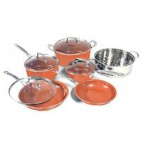 Copper Pan 10 Pc Set Luxury Induction Cookware Set Non Stick