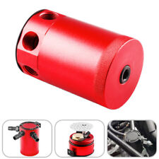 Car Racing Baffled 3-Port Oil Catch Can/Tank/Air-Oil Separator Universal Red
