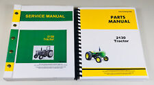 Service Parts Manual Set For John Deere 2130 Tractor Repair Shop Book Overhaul