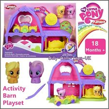 My Little Pony Playskool Friends Applejack Activity Barn Playset Figures Car NEW