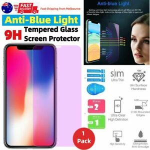 Anti BLUE Light Filter Glass Screen Protector For Apple iPhone 12 Pro Max Mini