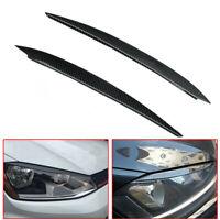Carbon Fiber Headlight Eyebrow Eyelids Cover For VW Golf 7 GTI GTD R MK7 2013-17