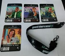 *NEW* GTA 5 Lanyard + 4 PROMO CARDS- ID Badge PROMO ONLY Grand Theft Auto V RARE