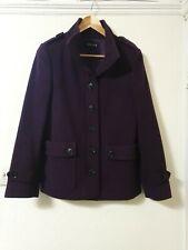 Jaeger Wool Blend Purple Winter Coat Jacket Size 8