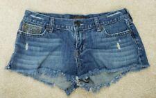 Hollster Blue Denim Distressed Frayed Jean Shorts Women's Size 5