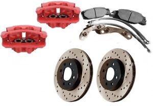 "★ NEW Merkur XR4Ti BIG Front Brake Kit Aluminum Calipers 11"" Rotors Ford Sierra"