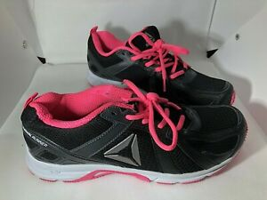 Reebok Women's C42 1ap502 Black and Pink running shoes 9.5 W Wide gently used