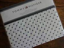 TOMMY HILFIGER NAVY Blue WHITE Polka DOT QUEEN SHEET Set 4PC