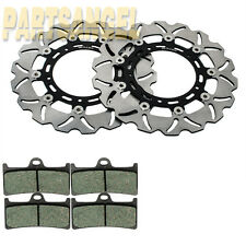 Front Brake Stainless Steel Disc Rotor+ Pads Yamaha YZF-R6 YZF R6 2005-2014