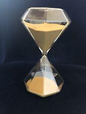 Geometric Golden Sand Glass Hourglass (60-Minute Timer)