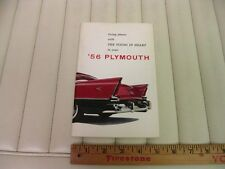 1956 Plymouth Car Owners Instruction Manual