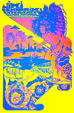 Jimi Hendrix Experience 1967 concert poster created by Hapshash and Colorcoated