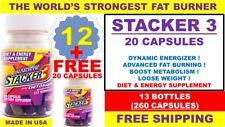 13 Stacker 3 No Ephedra 12+(1 FREE 20)= 260 capsules Weight loss & Energy EX9/21