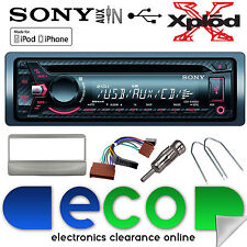 Ford Fiesta 95-04 Sony CDX-G1100U CD MP3 USB AuxIn Iphone Car Radio Stereo Kit