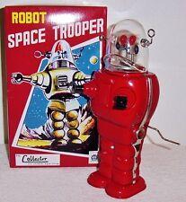 HA HA TOYS SPACE TROOPER RED VERSION TIN ROBOT LE 1999 MINT