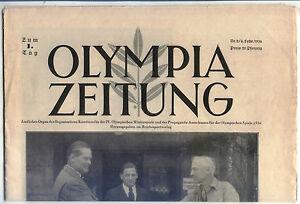 06.02.1936 OLYMPIA ZEITUNG Number 2 - Olympic Games Garmisch-Partenkirchen 1936