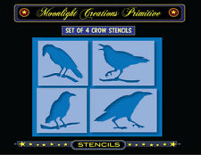 Stencil-4 CROW STENCILS~Stencils are 3.5 inches high and are 4 to 5 inches wide
