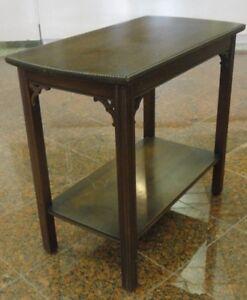 50's HOLLYWOOD REGENCY BRANDT MAHOGANY SIDE TABLE