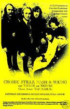 Crosby, Stills, Nash & Young  at  UCLA Los Angeles. Concert Poster 1969