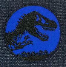 JURASSIC PARK MOVIE BLUE LOGO IRON ON PATCH