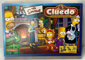 The Simpsons Cluedo The Classic Detective Game Complete 2001 Hasbro Vintage