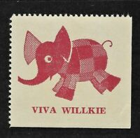 Viva Willkie Presidential Run Campaign Stamp – Ran Against Roosevelt in 1940