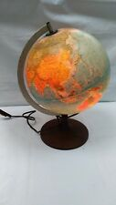 Vintage 1983 Globe Lamp Scan Globe Danish Light Illuminated Globe Retro USSR