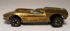 1968 Gold Turbo Fire White Interior Hot Wheels Vintage Red Line