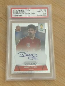 Diego Costa 2014 Panini Prizm World Cup Signature Autograph PSA 8.5