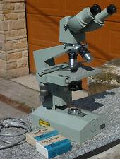 Carl Zeiss Jena 1Q Mikroskop,Labor/Forschungsmikroskop mit Beleuchtung