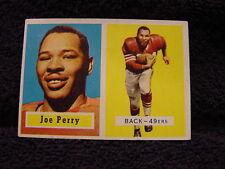 BEAUTIFUL 1957 Topps #129 Joe Perry Card, San Francisco 49ers, VERY NICE!