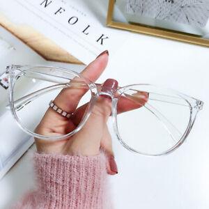 Plain Glass Anti Blue Light Round Transparent Glasses Frame Optical Spectacles