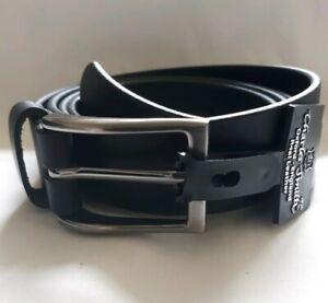 "New Black Leather 28mm Belt  46"" & 54"" Waist"